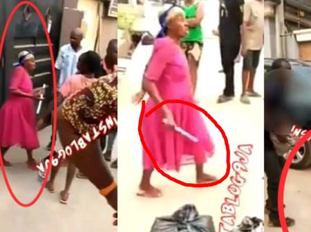See what this suspected Female Ritualist was holding when she was arrested