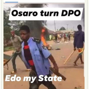 This is very Wrong: See what a youth in Edo state was seen wearing during protest.