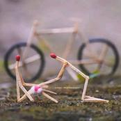 Photos Of How A Creative Artist Used Matchsticks To Portray Humans