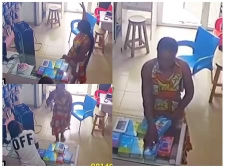 Lady Went To A Phone Store, Acted Like She Wanted To Buy A Phone And Did This (VIDEO)