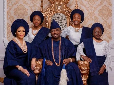 Oba Alayeluwa Saheed Turns 45 Today, Meet His Lovely Family (photos)