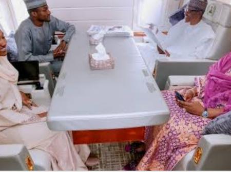 Photos Of Buhari, Obama, Donald Trump And Joe Biden Inside Presidential Jets