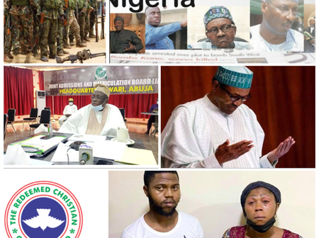 Today Headlines: Eight RCCG Evangelists Kidnapped; Buhari Prays Against Another Civil War In Nigeria