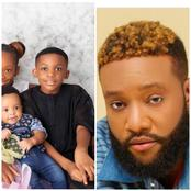 E-money's Brother Kcee Shows Off His Cute Children (Photos)