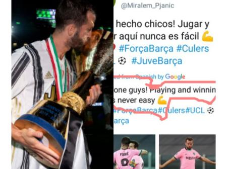 See What Former Juventus And Now Barcelona Player Said After They Trashed Juventus 2:0 On 28 October