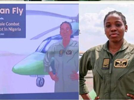 'Girls Can Fly': Tolulope Arotile The First Female Combat Helicopter Pilot Honoured In A Comic Book