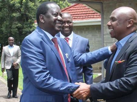 Raila To Support Gideon Moi For Presidency 2022, Senator Says