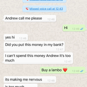 See reactions to a WhatsApp chat between mother and son