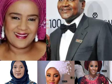 African Richest Man Is 64 years Old Today, See Photos Of His Ex-Wife And Three Beautiful Daughters
