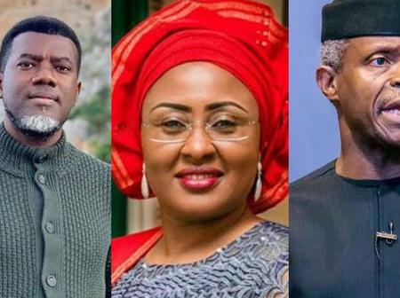 After Osinbajo Stated That Aisha Buhari Is Extraordinary, See The Question Reno Omokri Asked