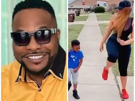 Bolanle Ninalowo's Wife Shows Off Her Latest Photos, Working Out With The Kids