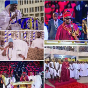Photos Of Oba Of Benin And Ooni Of Ife In Church