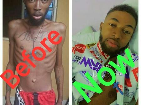 Remember the blood cancer patient that Bobrisky helped pay his bill, see how healthy he is now.