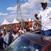 Different Reactions After Odinga Posted This On His Twitter Account Over His Tour in Kwale County