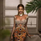 Miss Maryline Kouadio, toute resplendissante mais son collier suscite beaucoup de commentaires