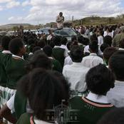 President Uhuru Donates a School bus to AIC Moi Girls Secondary School in Samburu County