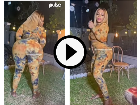 Reactions As Endowed Ghanaian Celebrity Shows Her Dance Steps