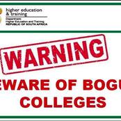 Call The Following Number To Check If A Tertiary Institution Is Bogus And Avoid Being Scammed.