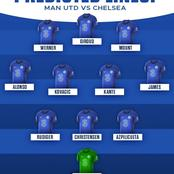 Check out our predicted Chelsea lineup against Manchester United