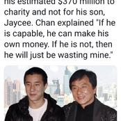 Checkout What Jackie Chan Plans To Do with His Wealth