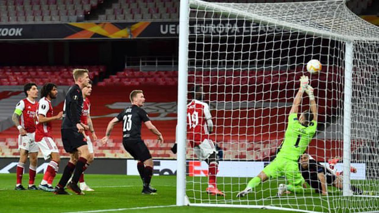 Arsenal 1-1 Slavia Prague – Europa League quarter-final, first leg – as it happened