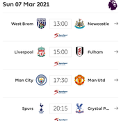English Premier League Game-Week 27 fixtures for Saturday, Sunday, Monday