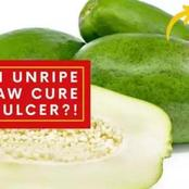 Do You Have Ulcer? See How To Cure Ulcer Permanently With Unripe Pawpaw