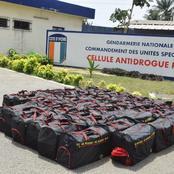 Cocody angré / grande saisie de cocaïne par la gendarmerie nationale