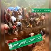Watch: Congolese Seen Digging and Packing Golds as their Entire Hill Was Full of Gold in Kuv Area