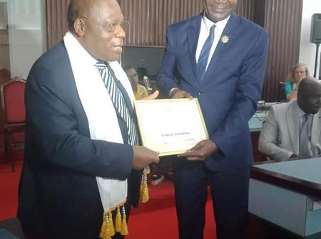 Distinction à l'Assemblée Nationale: l'Honorable Tibooué Tchin Michel fait Ambassadeur de la Paix