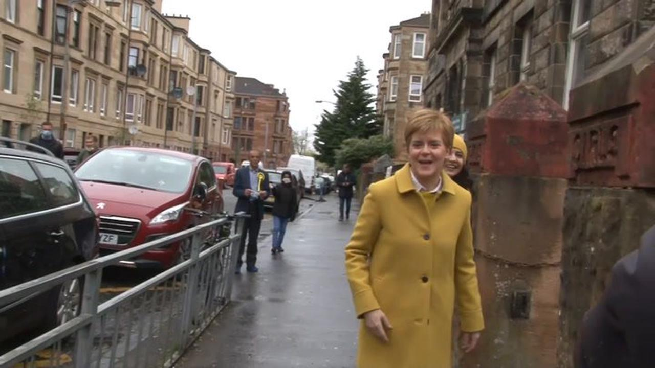 Nicola Sturgeon explodes at right wing activist outside polling station: 'Fascist racist!'