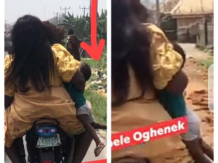 Check Out The Way The Lady Carried Her Child On The Bike That Made People Drag Her Online