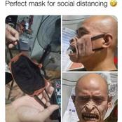 Perfect Mask For Social Distancing: See The Mask That Has Sparked Reactions Online