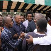 Cette photo de Gbagbo et des comédiens ivoiriens fait