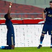 Nigerian star reacts after netting his first goal for European top club in their 3-0 win (Photos)