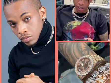 Nigerian Singer, Tekno Shows Off His Beautiful Gucci Wristwatch (Photos)