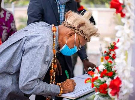 PHOTOS: Royal Fathers Mourn Akwa Ibom PDP Chairman's Death During Condolence Visit
