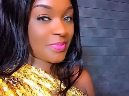 Ken Erics, Others React As ChaCha Eke Dazzles In New Photos Wearing A Stunning Outfit