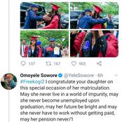 Omoyele Sowore & Onoja in Heated War of Words over Matriculation Pictures of Daughter of Kogi Gov.