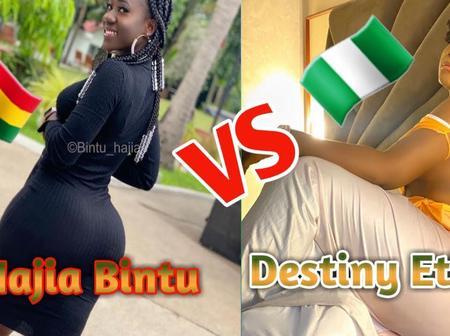 Photos:Hajia Bintu Vs Destiny Etiko - Who Get Fat Ass (Ghana Vs Nigeria) 🇬🇭🇳🇬.