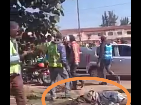 Drama In Langata Road Near Carnivore After a Phone Snatcher Is Caught In The Act(Video)