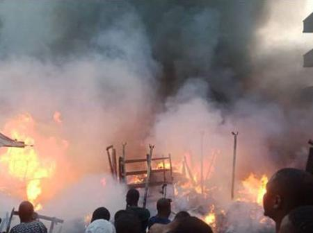 Tragedy: Fire Guts Popular Motor Parts Market In Nigeria - Photos