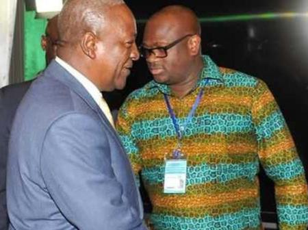 Mahama's Right Hand Man! See His Close Pics with H. E Mahama.