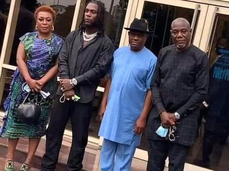 Gov. Wike Of Rivers State Gifts Burna Boy A Land To Build His Residential House.