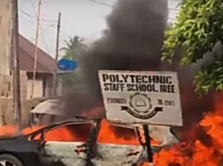 A Suspected Yahoo Boy Has Killed An Okada Rider Along Osun Polytechnic With His Reckless Driving