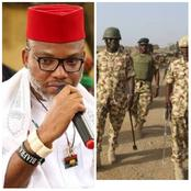 Healines: IPOB attack Uwazurike, says South-East govs won't take over ESN; Army declares 12 officers, 89 soldiers wanted