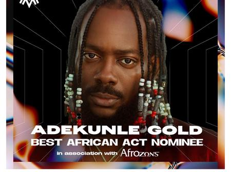 Adekunle Gold gets first MOBO award nomination, as other six Nigerian artists are also included.