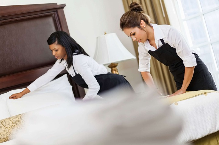 Slide 5 of 22: If you show up at 11 a.m. and check-in time is 2 p.m., please don't be upset if your room isn't ready. I can't make the housekeepers go any faster. And you don't want them to rush. Want to book cheap flights? Change your browsing mode.