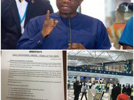 Ghana Airport Staff Embarks On Indefinite Strike To Oust Managing Director