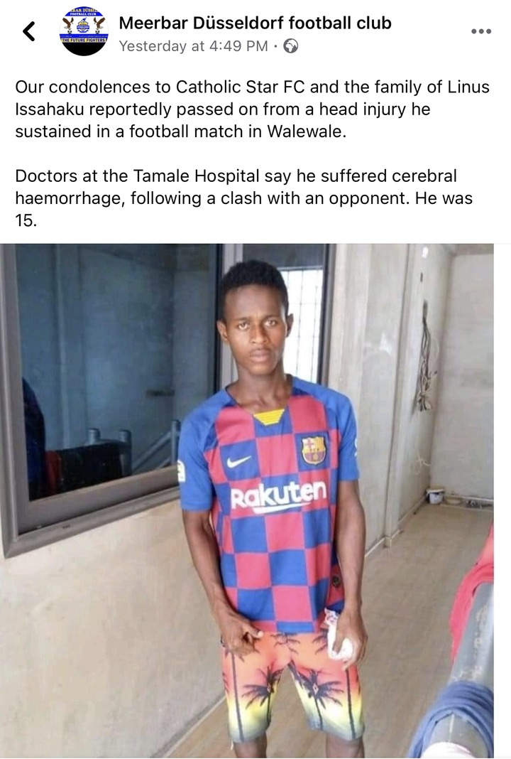 ef97e6dad1854ed699c3d2213950fb65?quality=uhq&resize=720 - Sad News: Young Talented Ghanaian Footballer Reported Death After Sustaining A Head Injury - Details